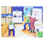 Canvas Print - Mummers Kitchen Party  - Plays the Mummers Song - 16
